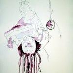 Kopie der verlorenen Zeit - 65 x 50 cm - Tusche auf Bütten (c) Zeichnung von Susanne Haun