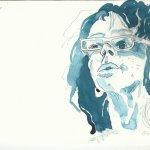Ich seitlich - 20 x 30 cm - Tusche auf Bütten (c) Zeichnung von Susanne Haun