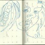 Selbstportrait Tagebuch Juli 2013 (c) Zeichnung von Susanne Haun