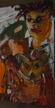 Hommage an Basquiat - 220 x 140 cm - 2005 (c) Leinwand von Susanne Haun