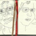 Selbstportrait Tagebuch Umrechnungen (c) Zeichnung von Susanne Haun