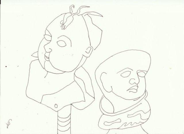 Die Puppe Version 2 (c) Zeichnung von Susanne Haun
