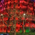 Der Torre Agbar mit nächtlicher Beleuchtung (c) Foto von M.Fanke