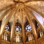 Die Kreuzrippen in der Kathedrale im gotischen Viertel Barcelona (c) Foto von Susanne Haun