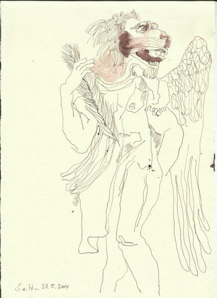 Das suessliche aus den Engeln Version 1 (c) Zeichnung von Susanne Haun
