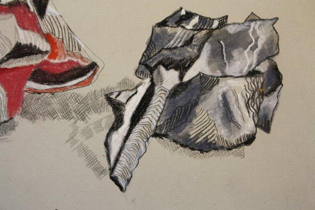 Linien und Schatten (c) Zeichnung von Susanne Haun