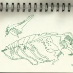 Herbstlaub - Zeichnung von Susanne Haun
