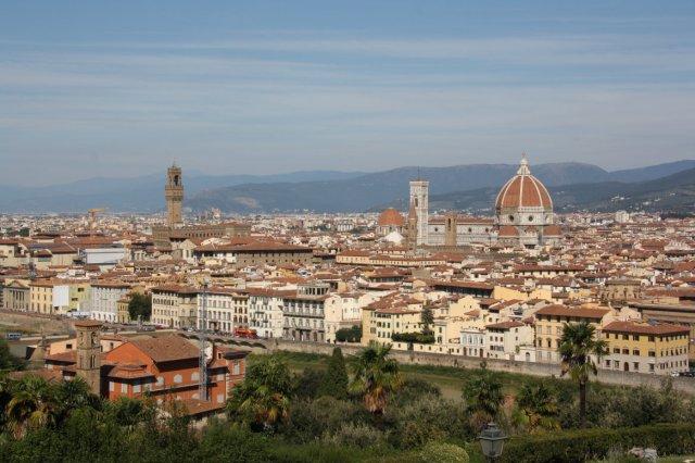 Ausblick vom Piazzale Michelangelo, Florenz (c) Foto von Susanne Haun