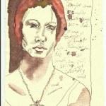 Tagebucheintragungen 10.8.2008 (c) Zeichnung von Susanne Haun
