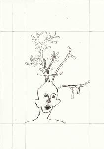 Bewusst Sein 3. Blatt Version 3 (c) Zeichnung von Susanne Haun