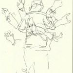 Im Konzerthaus - Dirigent (c) Zeichnung von Susanne Haun 0009