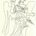 Engel der Engelsburg (c) Zeichnung von Susanne Haun