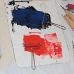 Rollen, Messer und Farbe (c) Foto von Susanne Haun