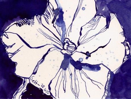 Fleissiges Lieschen (c) Zeichnung von Susanne Haun
