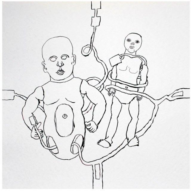 Sozialer Kontakt M. 1.1 (c) Zeichnung von Susanne Haun