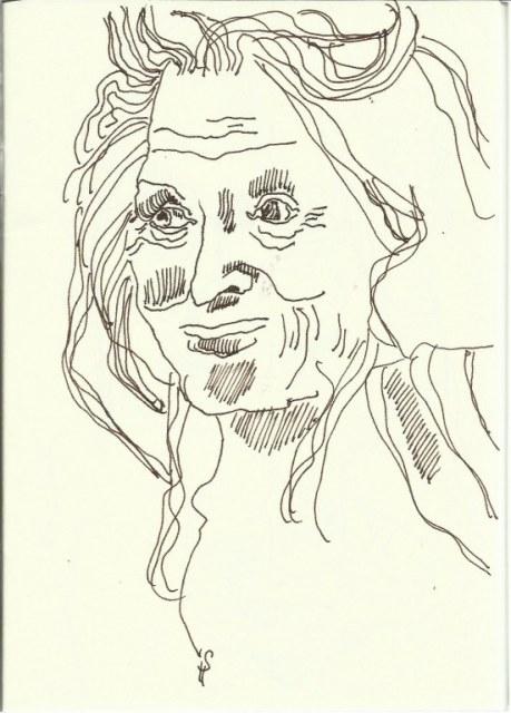 Portrait Alter (c) Zeichnung von Susanne Haun