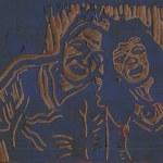 Ulli und ich (c) Linolschnitt von Susanne Haun 0001