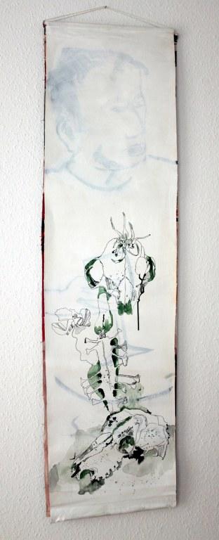 Zwischenstand - Der Tod - (c) Zeichnung auf Leinwand von Susanne Haun