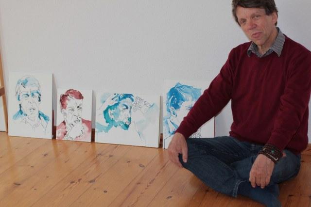 Volker und seine Portraits (c) Foto von Susanne Haun
