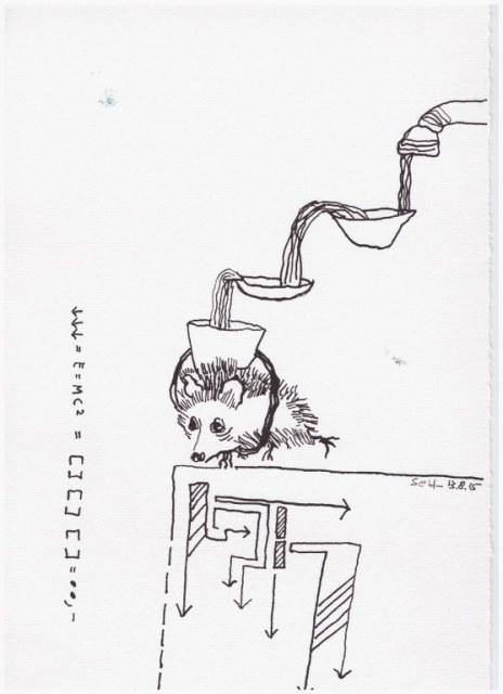 Weggegossen No. 14 (c) Zeichnung von Susanne Haun