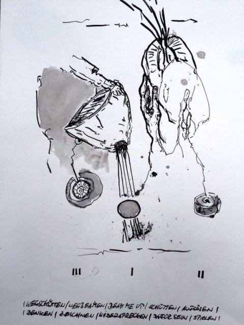 Weggegossen No. 22 b (c) Zeichnung von Jürgen Küster