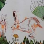 Sehgewohnheiten der Kleinsten – Der Feldhase (c) Collage von Susanne Haun