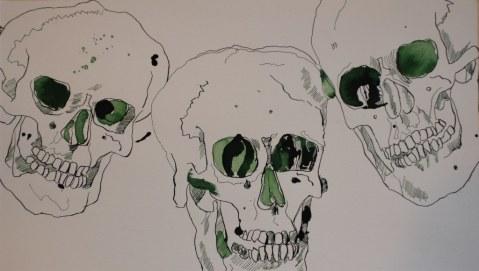 Dreifach Tod 25 x 43,5cm (c) Zeichnung von- Susanne Haun