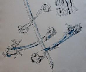 Fragment Vergänglichkeit ohne gezeichneten Rahmen (c) Zeichnung von Susanne Haun
