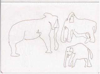 Elefant (c) Zeichnung von Susanne Haun