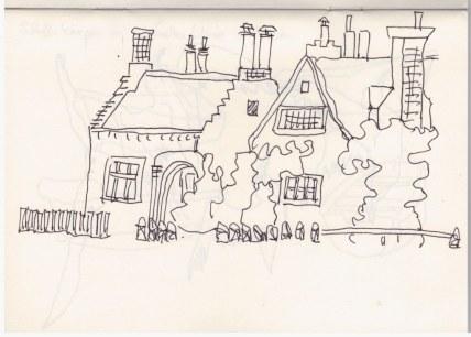 Architektur - Heydon (c) Zeichnung von Susanne Haun