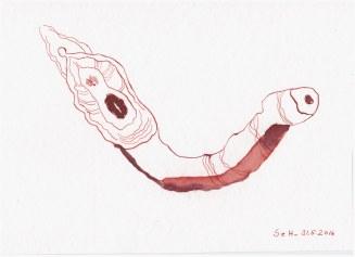 #63.3 Die Obzönität der Null (c) Zeichnung von Susanne Haun