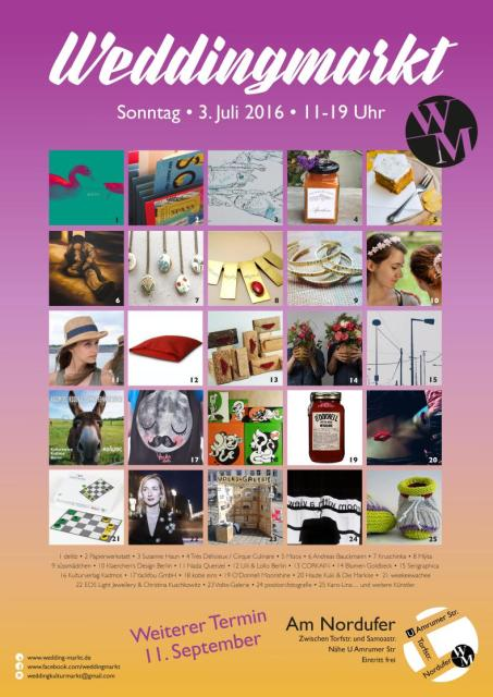 Weddingmarkt Plakat Juli 2016