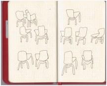 Im Kaffee der co - Stühle (c) Zeichnungen von Susanne Haun