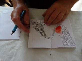 Bearbeitung der Hefte W E G S C H Ü T T E N (c) Foto von Susanne Haun