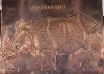 Reproduktion einer Kupferplatte von Dürer (c) Foto von M.Fanke