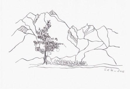Reiseimpressionen Innsbruck (c) Zeichnung von Susanne Haun