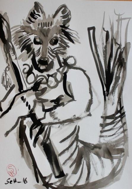 Hundemann - Version 2 - 70 x 50 cm (c) Zeichnung von Susanne Haun