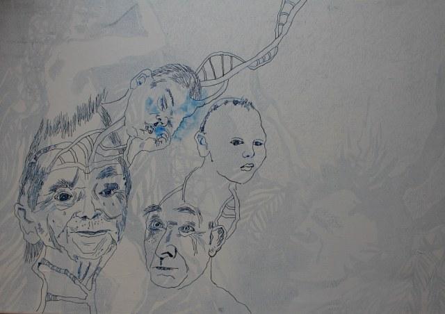3 Die Unglückseligen - 80 x 60 cm (c) Leinwand von Susanne Haun