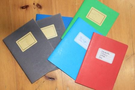 3 Skizzenbücher geschlossen (c) Foto von Susanne Haun