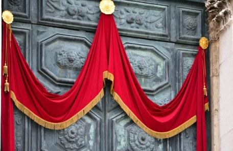 Detail Tür Santa Maria della Salute (c) Foto von M.Fanke