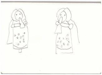 5 Flötenspielerin (c) Zeichnung von Susanne Haun
