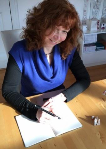 Salzkristalle zeichnen - Susanne Haun - Beute von der ITB (c) Foto von M.Fanke