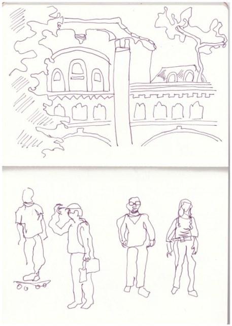 Beelitz Heilstätten - Zeichnung von Susanne Haun