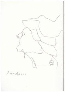 Menelaos - Abgusssammlung antiker Plastik in der Gemäldegalerie Dresden (c) Zeichnung von Susanne Haun