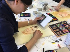 Portrait in Pastell - Workshop am Hasso Plattner Institut (c) Foto von Susanne Haun