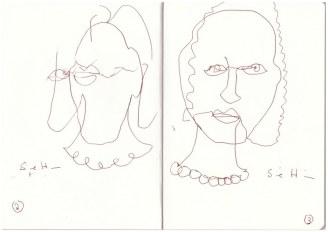 Selbst im Dunkeln (c) Zeichnung von Susanne Haun