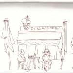 In der Fußgängeruone (c) Zeichnung von Susanne Haun