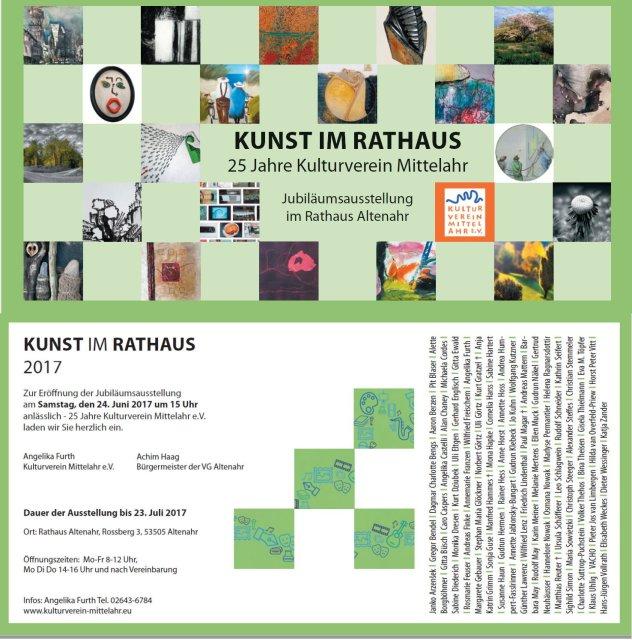 Einladung Kunst im Rathaus 2017 Jubiläumsausstellung