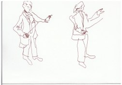 Im Konzerthaus bei Bartok (c) Zeichnung von Susanne Haun