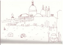 Venedig Blick auf Santa Maria della Salute 2016 (c) Zeichnung von Susanne Haun